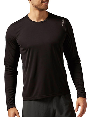 Reebok Running Essentials Long Sleeve Tee-BLACK-Medium 88912668_BLACK_Medium