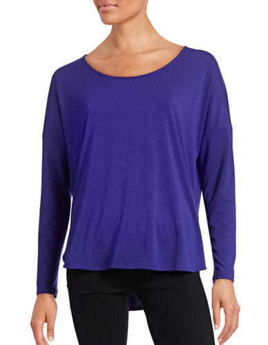Reebok Studio Lux Long Sleeve Tee-PURPLE-Small 88563627_PURPLE_Small