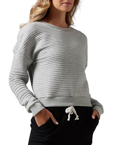 Reebok Ribbed Sweatshirt-GREY-Large 88477350_GREY_Large