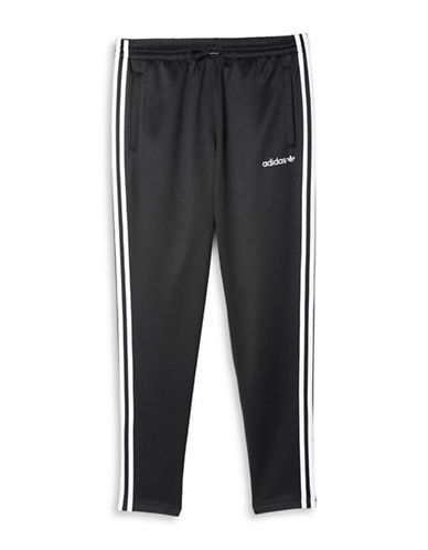 Adidas Striped Interlock Pants-BLACK-Large 88674520_BLACK_Large
