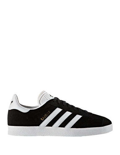 Adidas Womens Gazelle Sneakers-BLACK-8.5