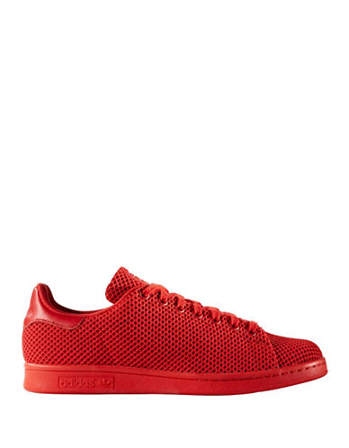 Adidas Originals Mens Stan Smith Circular Knit Sneakers-RED-9.5