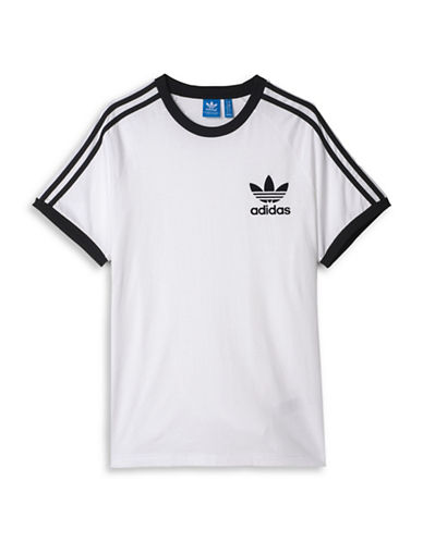Adidas Contrast Trimmed T-Shirt-WHITE-Large 88424383_WHITE_Large