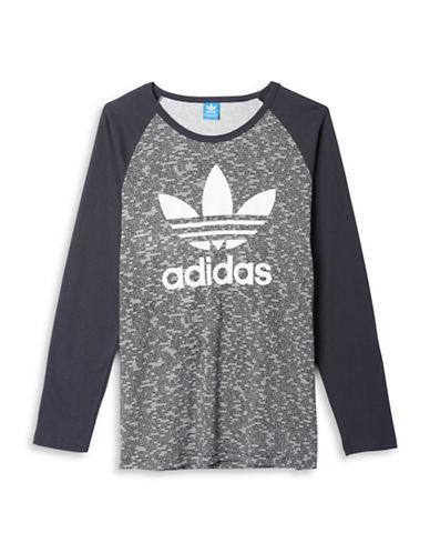 Adidas Trefoil Raglan Tee-GREY-Large 88674530_GREY_Large