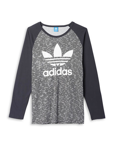 Adidas Trefoil Raglan Tee-GREY-Small 88674528_GREY_Small