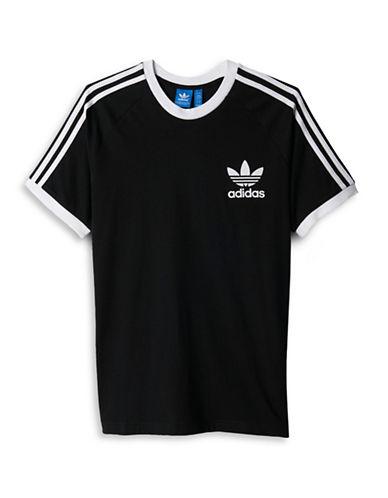Adidas Contrast Trimmed T-Shirt-BLACK-Medium 88424377_BLACK_Medium