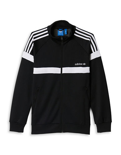 Adidas Colourblock Interlock Jacket-BLACK-Large 88674525_BLACK_Large