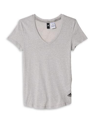 Adidas V-Neck Active T-Shirt-GREY-Small 88468859_GREY_Small