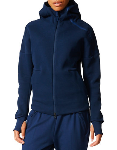 Adidas Z.N.E Athletic-Fit Double Knit Hoodie-BLUE-Small 88886804_BLUE_Small