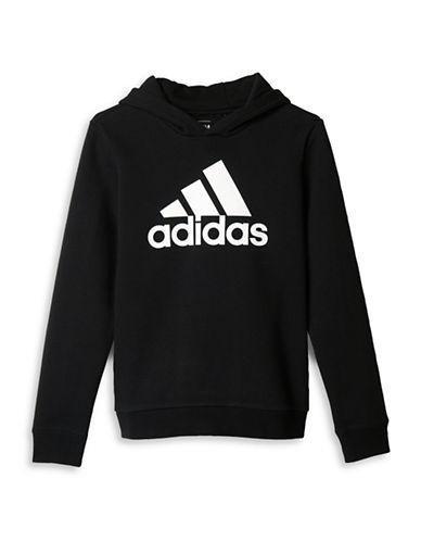Adidas Essentials Logo Hoodie-BLACK-Large 88774050_BLACK_Large