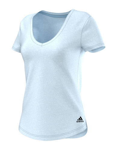 Adidas V-Neck Logo T-Shirt-BLUE-Small 88734197_BLUE_Small