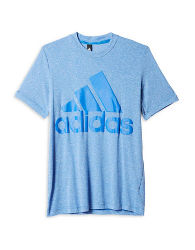 Adidas Logo Basic Crew Neck T-Shirt-BLUE-Small 88779341_BLUE_Small