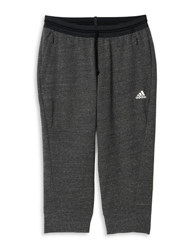 Adidas Cotton Fleece Three-Quarter Active Pants-GREY-Small 88560941_GREY_Small