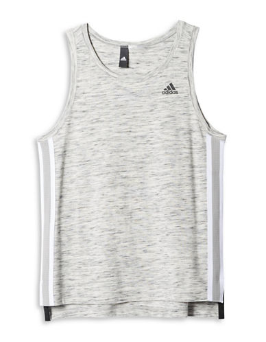 Adidas Heathered High-Low Tank-GREY-Large 88517175_GREY_Large