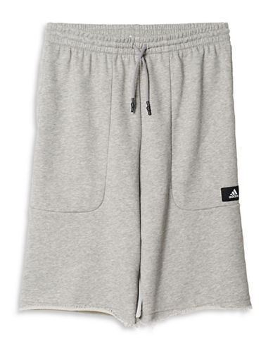 Adidas Heavy Terry Baggy Shorts-GREY-Large 88517154_GREY_Large