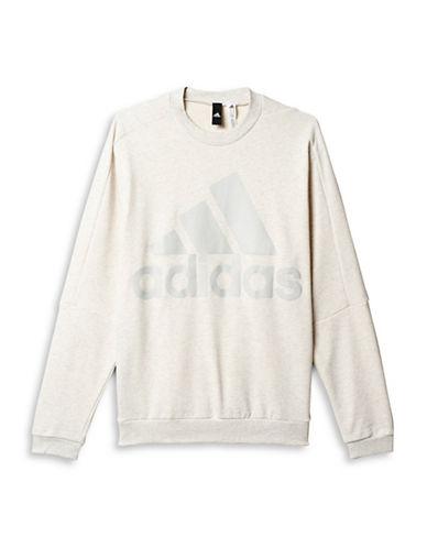Adidas Heavy Terry Crew Neck Sweatshirt-WHITE-X-Large 88517136_WHITE_X-Large
