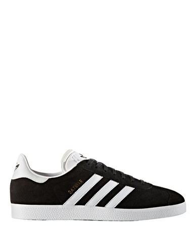 Adidas Originals Mens Gazelle Sneakers-BLACK-10.5