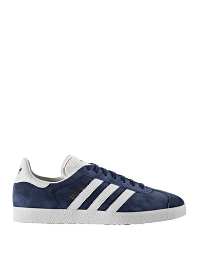 Adidas Originals Gazelle Leather Sneakers-NAVY-8.5