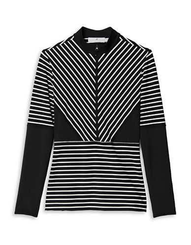 Stella Mccartney Studio Stripe Long-Sleeve Top-BLACK-Large 88454841_BLACK_Large