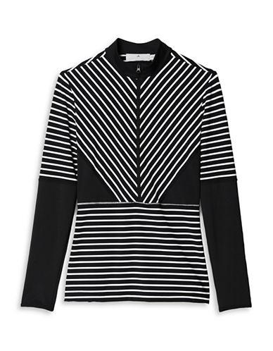 Stella Mccartney Studio Stripe Long-Sleeve Top-BLACK-Medium 88454840_BLACK_Medium