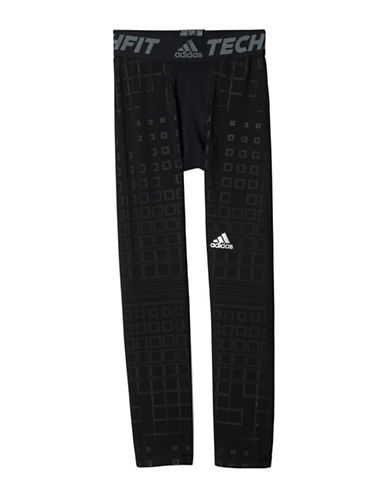 Adidas Printed Fitted Pants-BLACK-Large