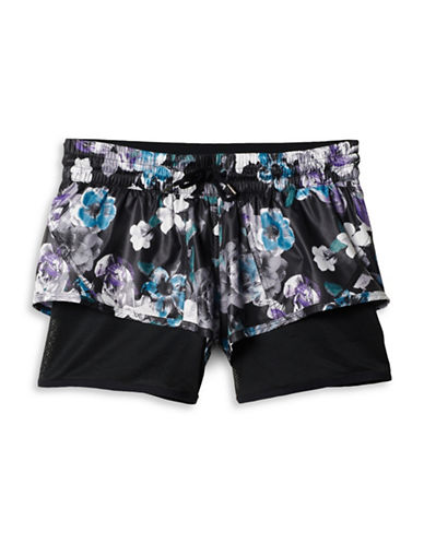 Stella Mccartney Run 2-in-1 Shorts-BLACK MULTI-Large 88690715_BLACK MULTI_Large