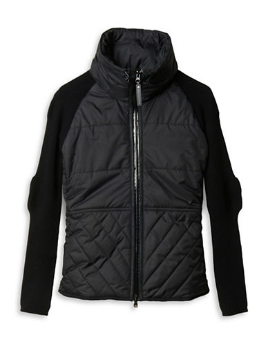 Stella Mccartney Padded Knit Jacket-BLACK-X-Small 88690724_BLACK_X-Small