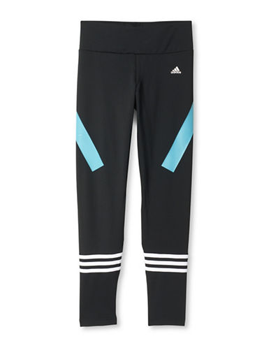 Adidas Striped Athletic Tights-BLACK-X-Large 88658379_BLACK_X-Large
