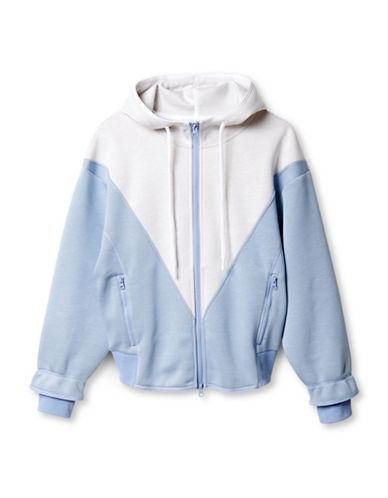Stella Mccartney Studio Hoodie-BLUE/WHITE-Large 88454833_BLUE/WHITE_Large
