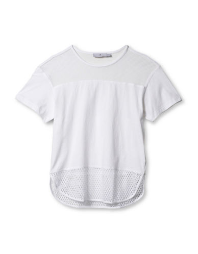 Stella Mccartney Essentials Mesh Tee-WHITE-Large 88454849_WHITE_Large