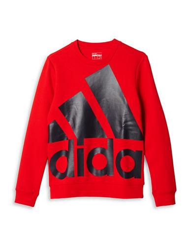 Adidas Oversized Logo Crew Sweatshirt-RED-X-Large 88774047_RED_X-Large
