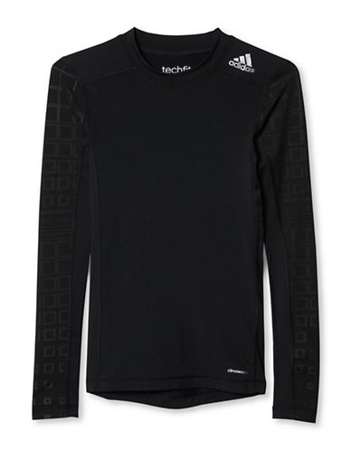 Adidas Long Sleeve Slim-Fit Tee-BLACK-X-Large 88634523_BLACK_X-Large