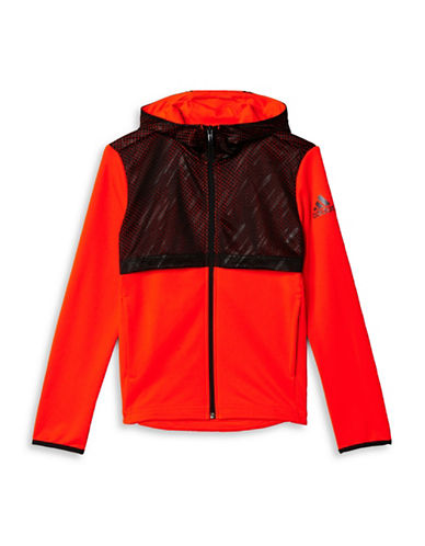 Adidas Urban Football Full Zip Hoodie-RED-Small 88511333_RED_Small