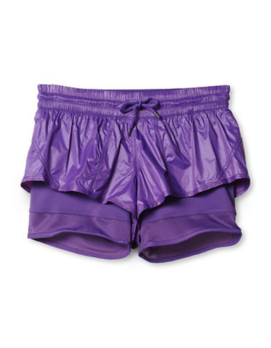 Stella Mccartney Run Two-In-One Shorts-PURPLE-Large 88454861_PURPLE_Large