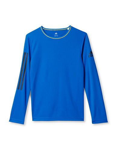 Adidas Printed Long Sleeve Tee-BLUE-Large 88634534_BLUE_Large