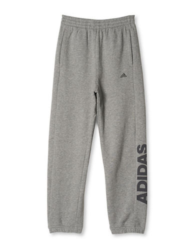 Adidas Heathered Cotton-Blend Pants-GREY-Small 88634496_GREY_Small
