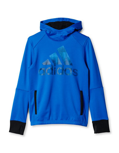 Adidas Long Sleeve Hooded Jacket-BLUE-Small 88634508_BLUE_Small