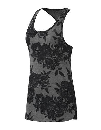 Adidas Tonal Floral Print Tank Top-GREY-Small 88468889_GREY_Small