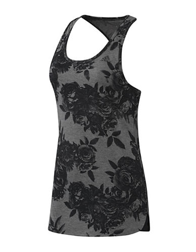 Adidas Tonal Floral Print Tank Top-GREY-X-Small 88468888_GREY_X-Small