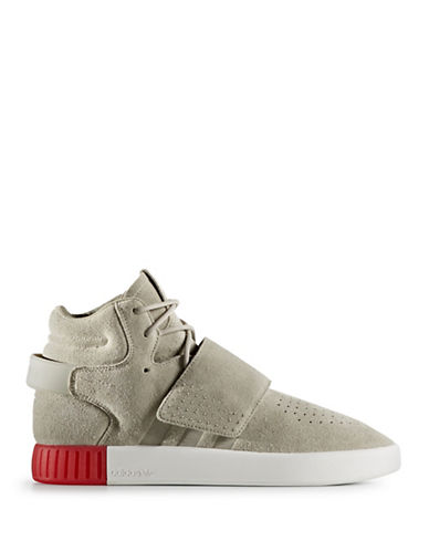Adidas Originals Mens Tubular Invader Strap Sneakers-SESAME-10