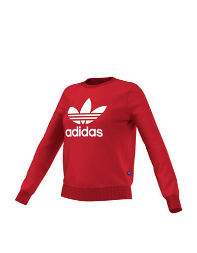 Adidas Trefoil Crew Sweater-RED-X-Small 88561010_RED_X-Small