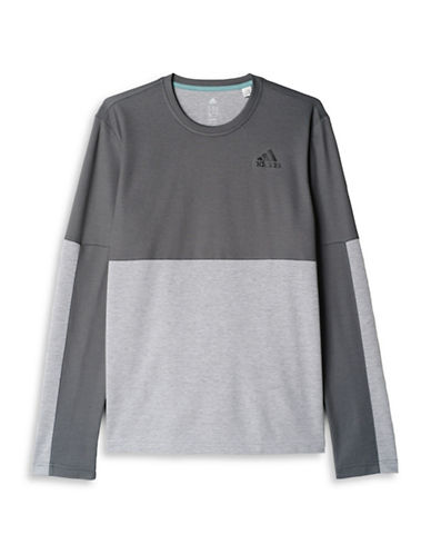 Adidas Athlete ID Long Sleeve Tee-GREY-Medium 88424312_GREY_Medium