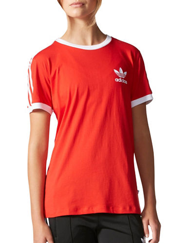 Adidas Three Stripes T-Shirt-RED-Large 88897412_RED_Large