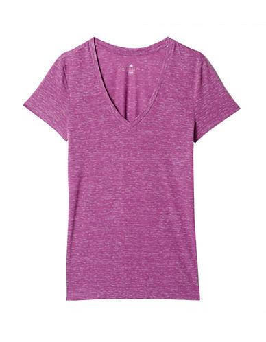 Adidas Deep V T-Shirt-PURPLE-X-Small 88561024_PURPLE_X-Small