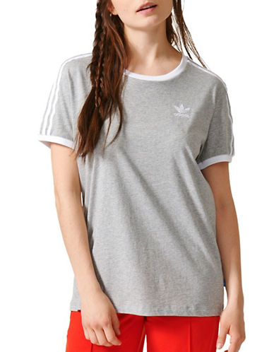 Adidas Three-Stripes Tee-GREY-X-Small 88822432_GREY_X-Small