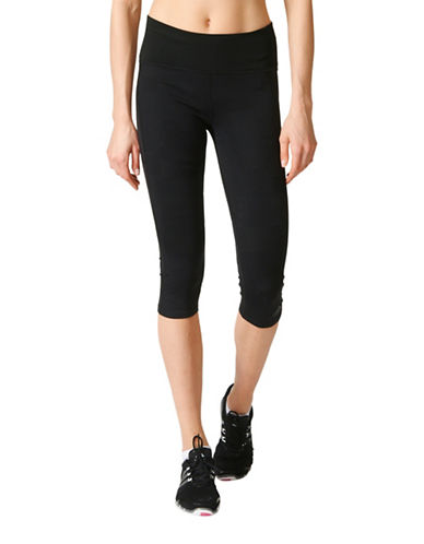 Adidas Adistar Knit Three-Quarter Tights-BLACK-Medium 88791531_BLACK_Medium