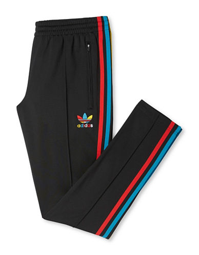 Adidas Multi-Colour Striped Track Pants-BLACK-Large 88468943_BLACK_Large