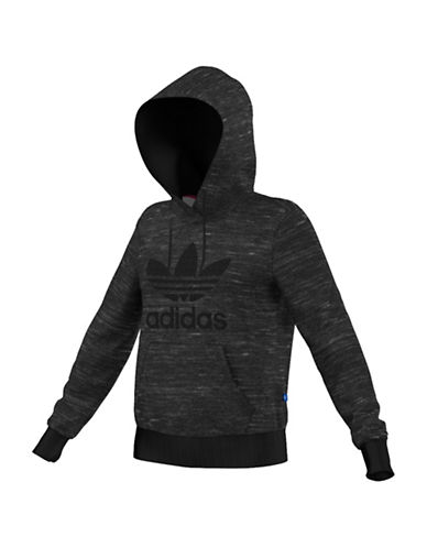 Adidas Trefoil Heathered Hoodie-GREY-Medium 88561002_GREY_Medium
