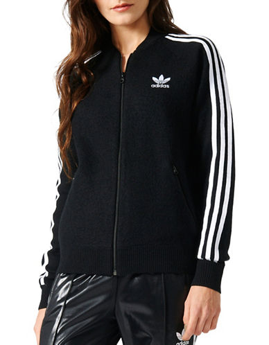 Adidas Superstar Knit Wool Track Jacket-BLACK-X-Large 88923955_BLACK_X-Large