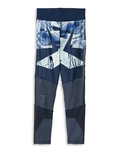 Adidas Wow Printed Tights-BLUE-Small 88561030_BLUE_Small